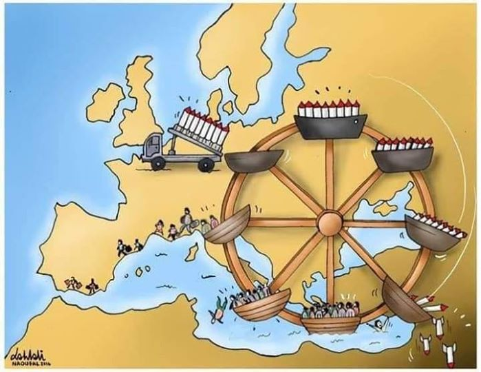 a broader perspective on the M-O and Refugee crisis…in a cartoon (image dessinée)
